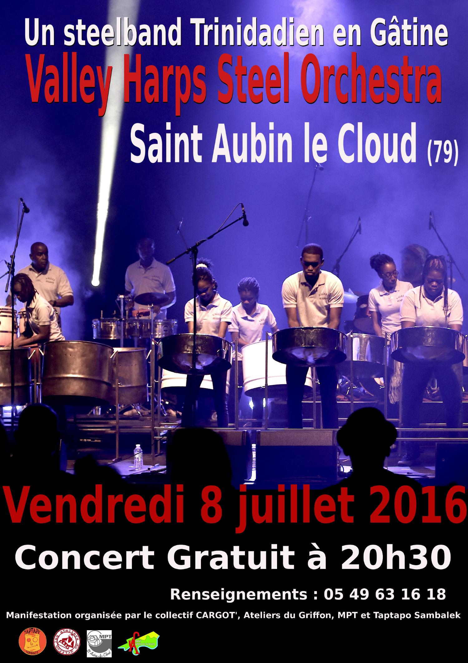 Un steelband Trinidadien en concert